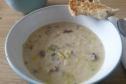 Käse-Lauch-Suppe mit Hackfleisch 112
