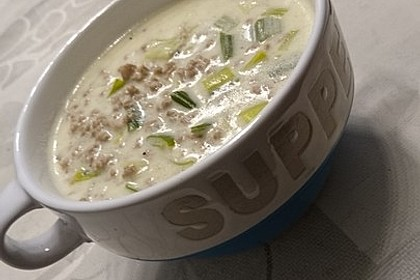 Käse-Lauch-Suppe mit Hackfleisch 29