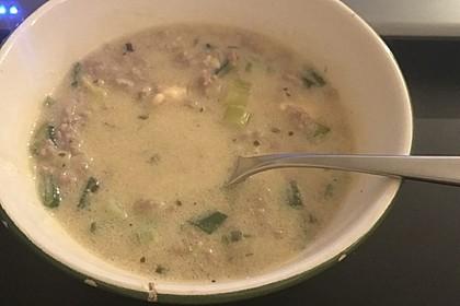 Käse-Lauch-Suppe mit Hackfleisch 54