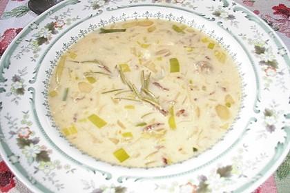 Käse-Lauch-Suppe mit Hackfleisch 63