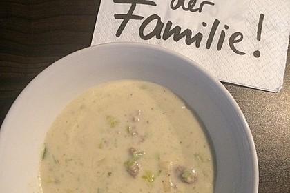 Käse-Lauch-Suppe mit Hackfleisch 121