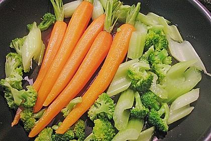 Perhuhn- und Wachtelkeulen gefüllt an einer Gemüsevariation 3
