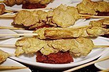 Marinierte Satay - Spieße mit Schweinefleisch
