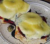 Apfel - Käse - Senf - Baguette (Bild)