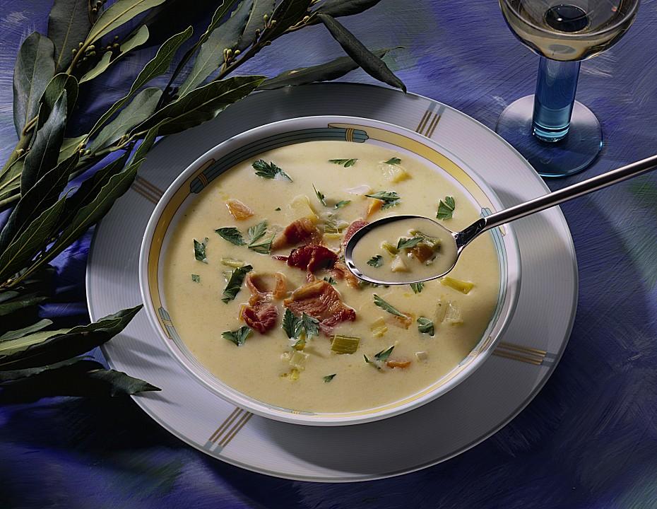feine kartoffel suppe mit brunch rezept mit bild. Black Bedroom Furniture Sets. Home Design Ideas