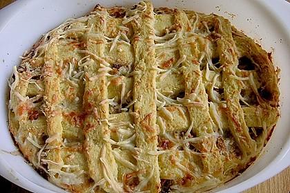 Kartoffelkuchen mit Lauchfüllung