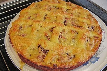 Kartoffelkuchen mit Lauchfüllung 7