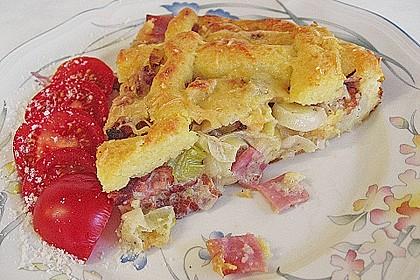 Kartoffelkuchen mit Lauchfüllung 1