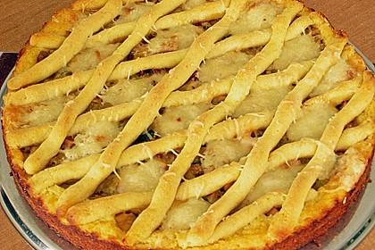 Kartoffelkuchen mit Lauchfüllung 4