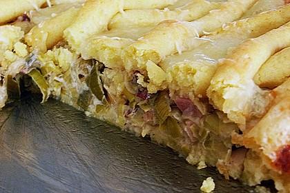 Kartoffelkuchen mit Lauchfüllung 2