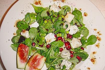 Granatapfelsalat mit Ziegenkäse 2