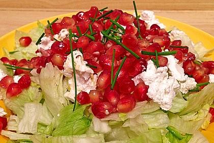 Granatapfelsalat mit Ziegenkäse 1