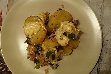 Bratkartoffeln mit Porree und Käse 7