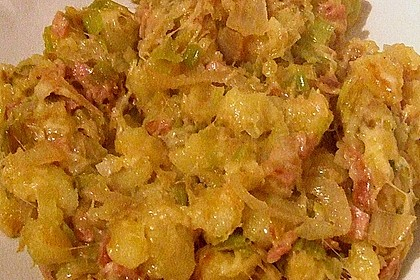 Bratkartoffeln mit Porree und Käse 15
