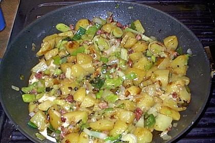 Bratkartoffeln mit Porree und Käse 14