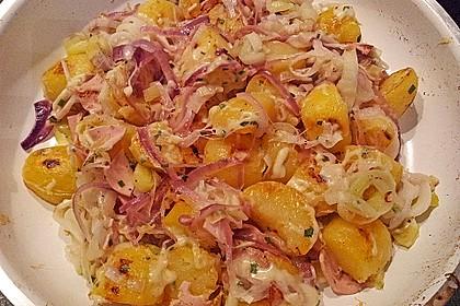 Bratkartoffeln mit Porree und Käse 4