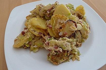 Bratkartoffeln mit Porree und Käse 6