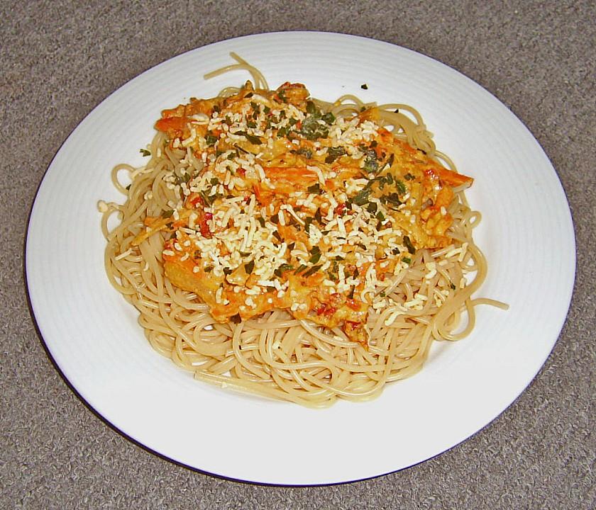 vegetarische spaghetti carbonara rezept mit bild. Black Bedroom Furniture Sets. Home Design Ideas