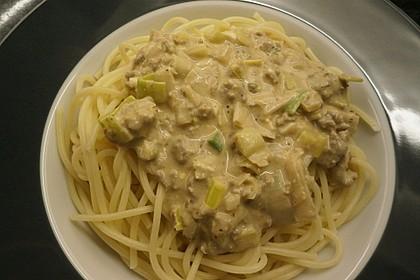 Spaghetti mit Käse - Hackfleisch - Sauce 1