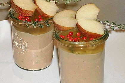 Putenleber - Parfait mit Apfel - Thymian - Gelee