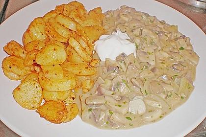 Bratkartoffeln mit Pilzragout 9