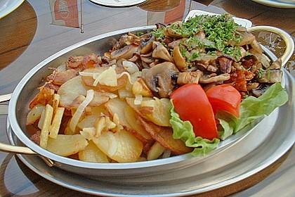 Bratkartoffeln mit Pilzragout 2