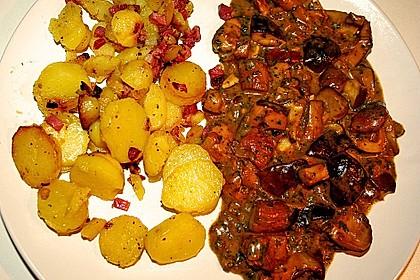 Bratkartoffeln mit Pilzragout 3