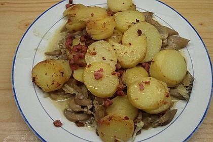 Bratkartoffeln mit Pilzragout 4