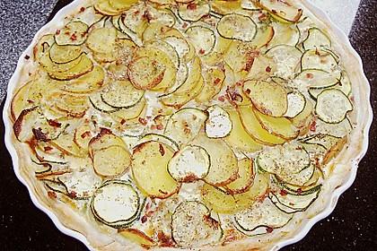 Kartoffel - Zucchini Quiche