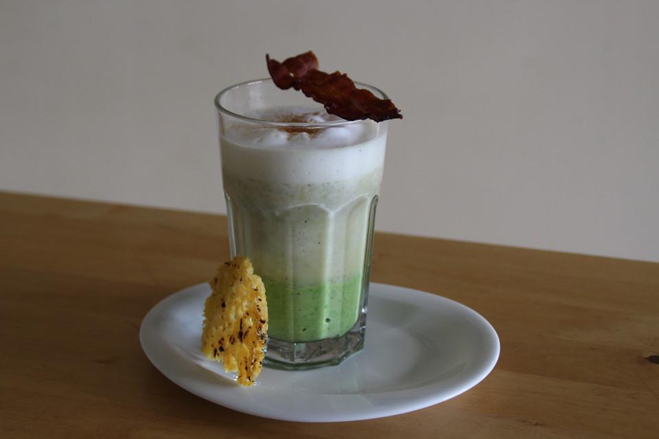 latte macchiato von der erbse rezept mit bild von bushcook. Black Bedroom Furniture Sets. Home Design Ideas