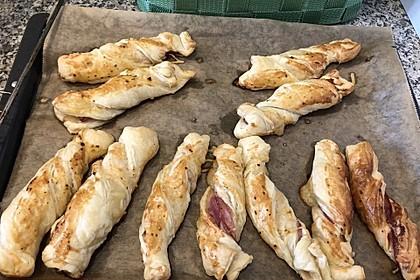 Blätterteig-Schinken-Käse-Stangen 92
