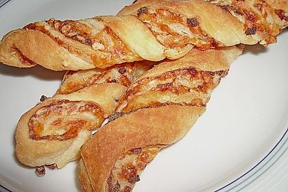 Blätterteig-Schinken-Käse-Stangen 9