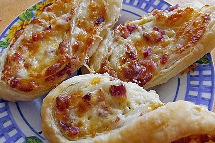 Blätterteig-Schinken-Käse-Stangen 61