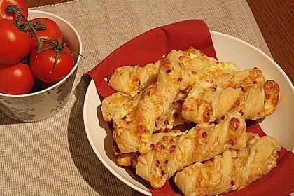 Blätterteig-Schinken-Käse-Stangen 4
