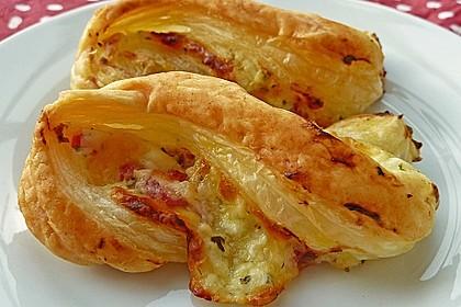 Blätterteig-Schinken-Käse-Stangen 11