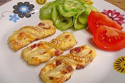 Blätterteig-Schinken-Käse-Stangen 34