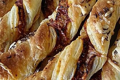 Blätterteig-Schinken-Käse-Stangen 22