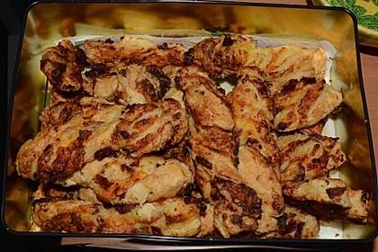 Blätterteig-Schinken-Käse-Stangen 100