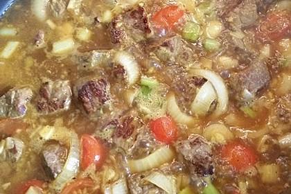 Kreolisches Rindfleisch - Curry mit Gemüse