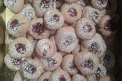 Marzipanbällchen mit Himbeergelee - Füllung 7