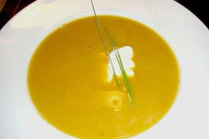 Kürbissuppe mit Maroni 2