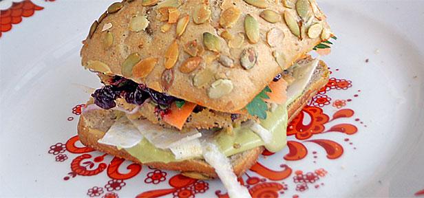 winterlicher burger mit k rbis vegan rezept mit bild. Black Bedroom Furniture Sets. Home Design Ideas