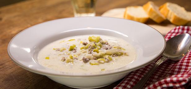 Käse-Lauch-Suppe mit Hackfleisch   Chefkoch.de Video