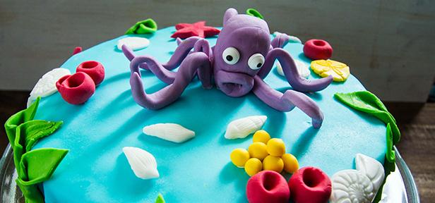 Fondant torte unterwasserwelt