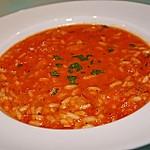 Leichte Tomatensuppe mit Reis