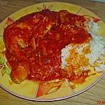 Afrikanisches Tomaten - Hähnchen mit Reis oder Couscous