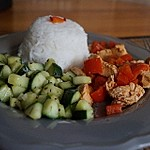 Chinesischer Gurkensalat mit Knoblauch